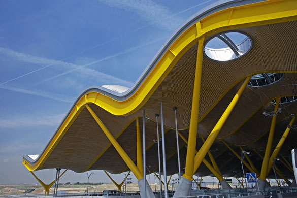The new terminal at Madrid Barajas airport was designed by Richard Rogers and won the 2006 RIBA Stirling prize for architecture. Photograph: Allan Baxter/Photographer's Choice
