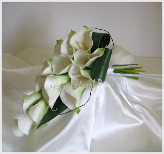 Artificial Wedding Flowers and Bouquets  Australia: Real Touch Calla Arm Sheaf Bouquets and