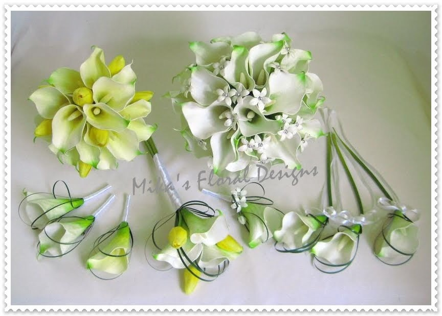 Artificial Wedding Flowers and Bouquets  Australia: Calla Lily, Tulip and Stephanotis Bouquets