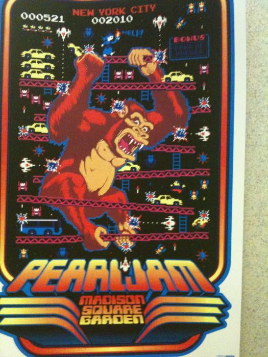 Inside The Rock Poster Frame Blog Tonights Pearl Jam