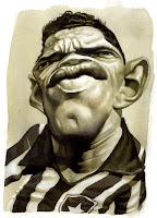 Resultado de imagem para Caricaturas de Mané Garrincha