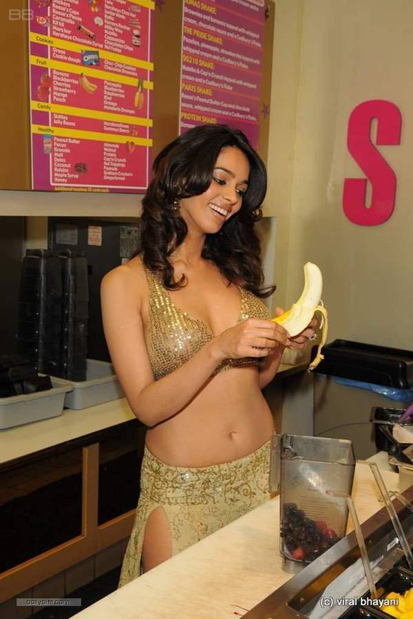 Mallika Sherawat Photo Shoot For Banana Shake Add  Hot N -9517