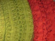 Bufandas colores cálidos