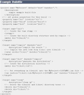 Example Ant script