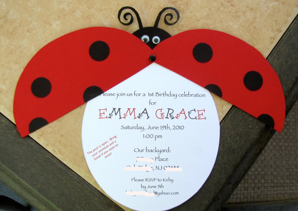 Lady Bug Invitation For Emma S Birthday And The Ladybug Theme Was Born