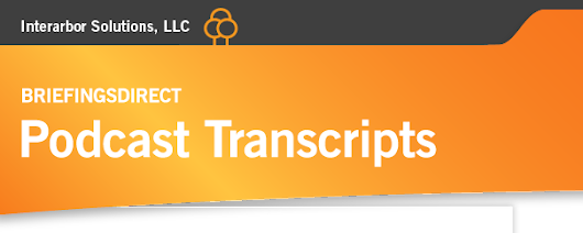 BriefingsDirect Transcripts: Transcript of BriefingsDirect Podcast on UPS's Solutions for Supply Chain Visibility