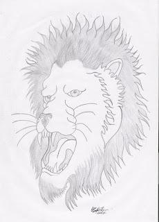 guto tattoos e desenhos preto e branco desenho leão feito a lapis