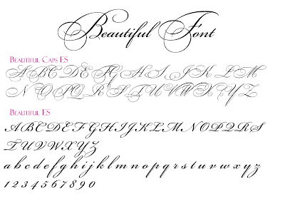 On the head the beautiful es font is in fact beautiful it also just