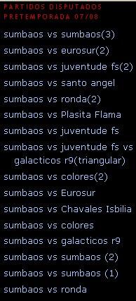 Pretemporada Sumbaos FC