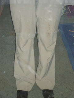 instantly dirty trousers