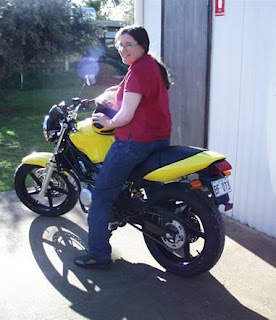 Me on the first day I got my motorcycle