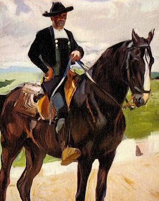 Charro a caballo, Joaquín Sorolla Bastida, Joaquín Sorolla Bastida, Retratos de Joaquín Sorolla, Joaquín Sorolla, Pintor español, Retratista español, Pintores Valencianos