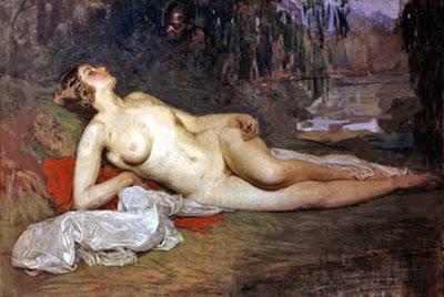 Desnudo con fondo, Anselmo Miguel Nieto, Pintura Española, Pintores Españoles, Pintor Español, Mujer desnuda, Mujeres desnudas, Obras de Anselmo Miguel Nieto