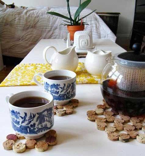 Ripe green ideas bouchons et dessous de plats - Dessous de plat en bouchon ...