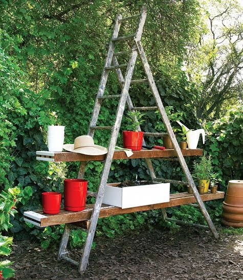 etagere bois pour plantes