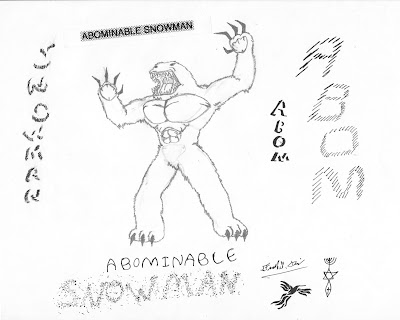 abominable snowman bumbles coloring pages - photo#32