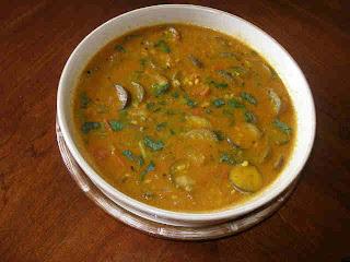Brinjal Sambar / Kathirikai Sambar Kitchen Tantra