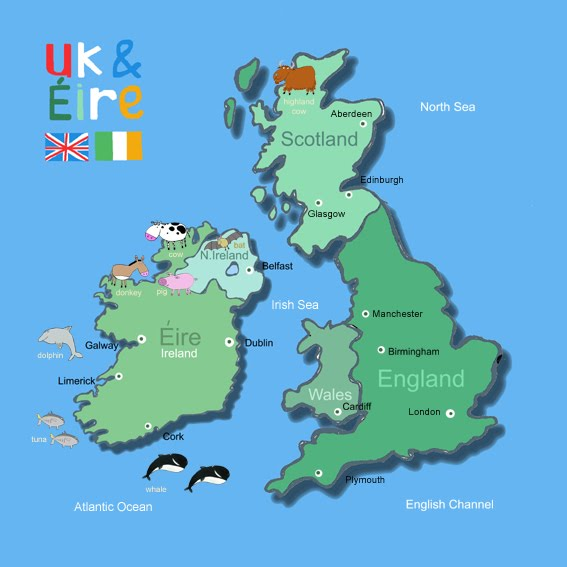 Kids Map Of England.Its S A Jungle In Here Kids Map Of The Uk Ireland