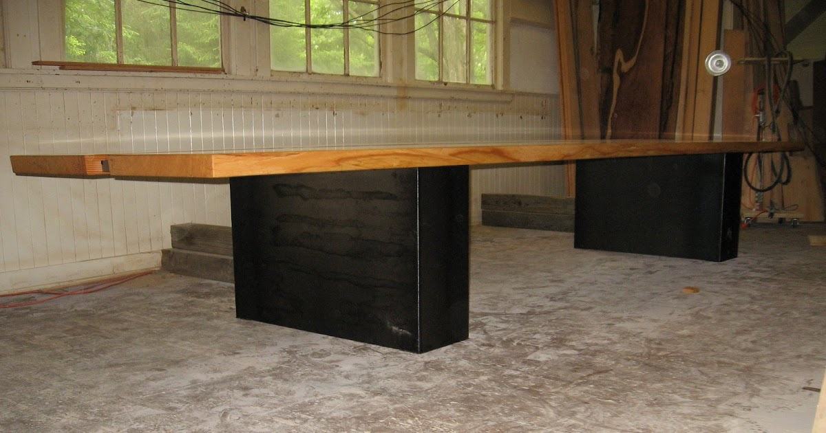 Heavy Metal Works Metal Confrence Table Quot Live Edge Wood