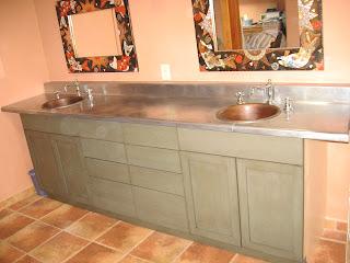 Zinc Bathroom Vanity heavy metal works: zinc counter top - bathroom vanity