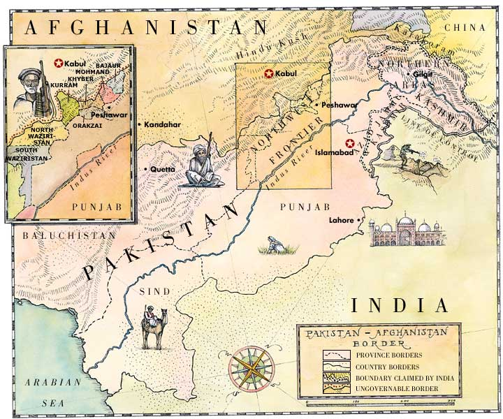 name of border between pakistan and afghanistan relationship
