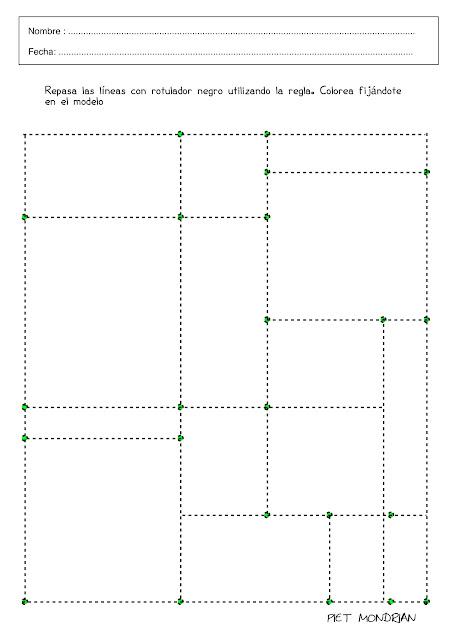 9 - repasa líneas con rotulador negro utilizando regla