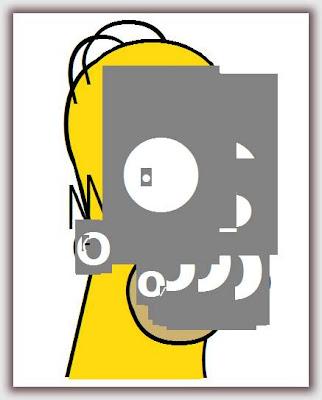 homer simpson con letras verdana - Homero Simpson hecho en CSS