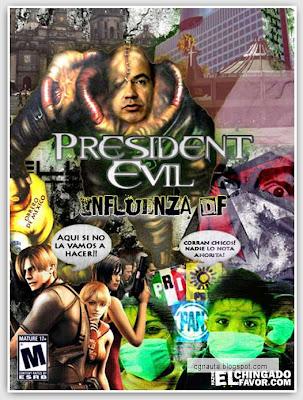 president evil resident evil 6 influenza city president evil humor negro