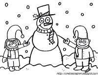 snowman coloring