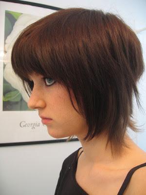 Layered Brown Emo Hair