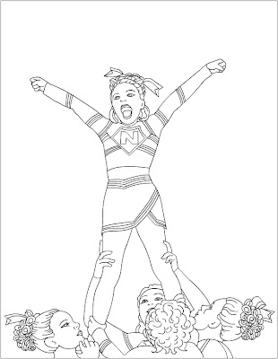 cheerleaded coloring pages | Nicole's Free Coloring Pages: Cheerleading Coloring pages