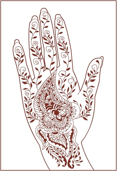 Nicole S Free Coloring Pages Henna Mehndi Pattern
