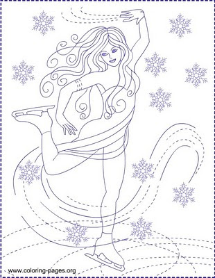 Nicole S Free Coloring Pages Ice Skating Ice Princess