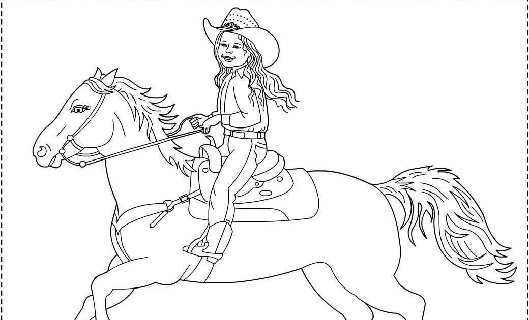 Nicole's Free Coloring Pages: The little Cowgirl ...