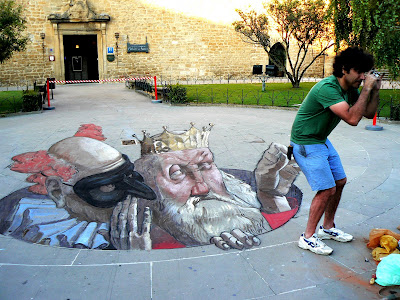 King Chalk Painting