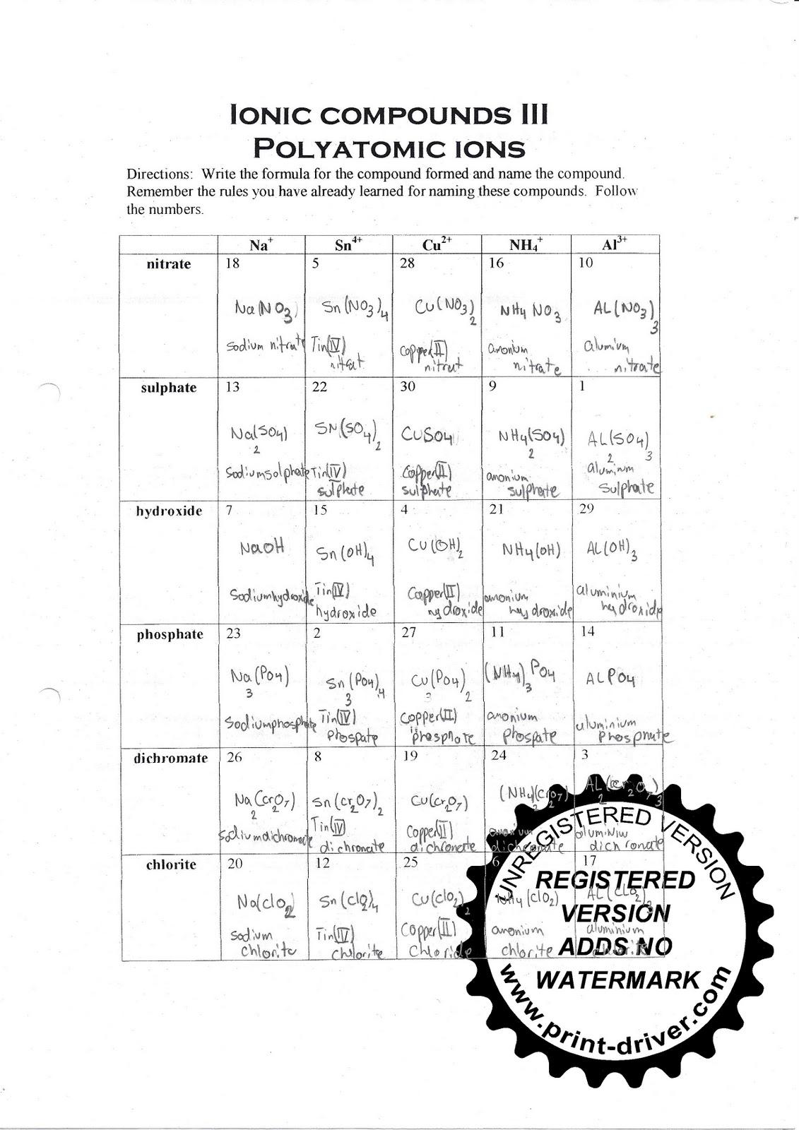 Mr Zehner S Chemistry Class December