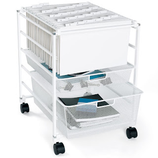 Here Is One Of My Favorite Things That I Use Every Day In Office It S The Elfa White Mesh Rolling File Cart From Container