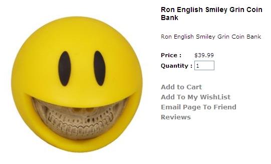 J ME  ( ̄ε(# ̄): Ron English - Smiley Grin Coin Bank