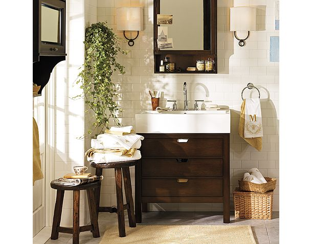 awesome pottery barn bathrooms designs | New Baths by Pottery Barn