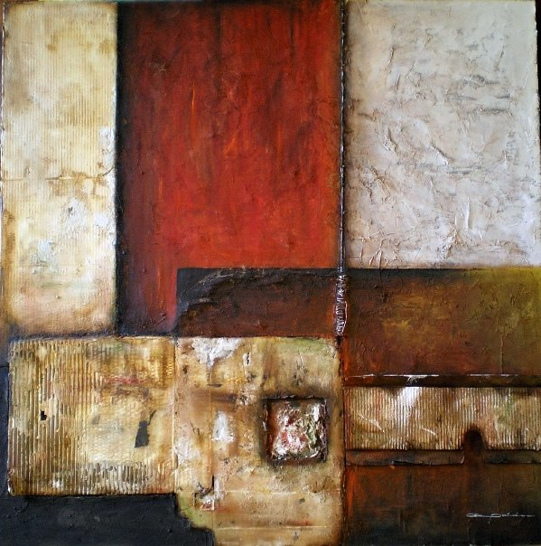 Almudena Pintado 1969 | Spanish Abstract Mixed media painter