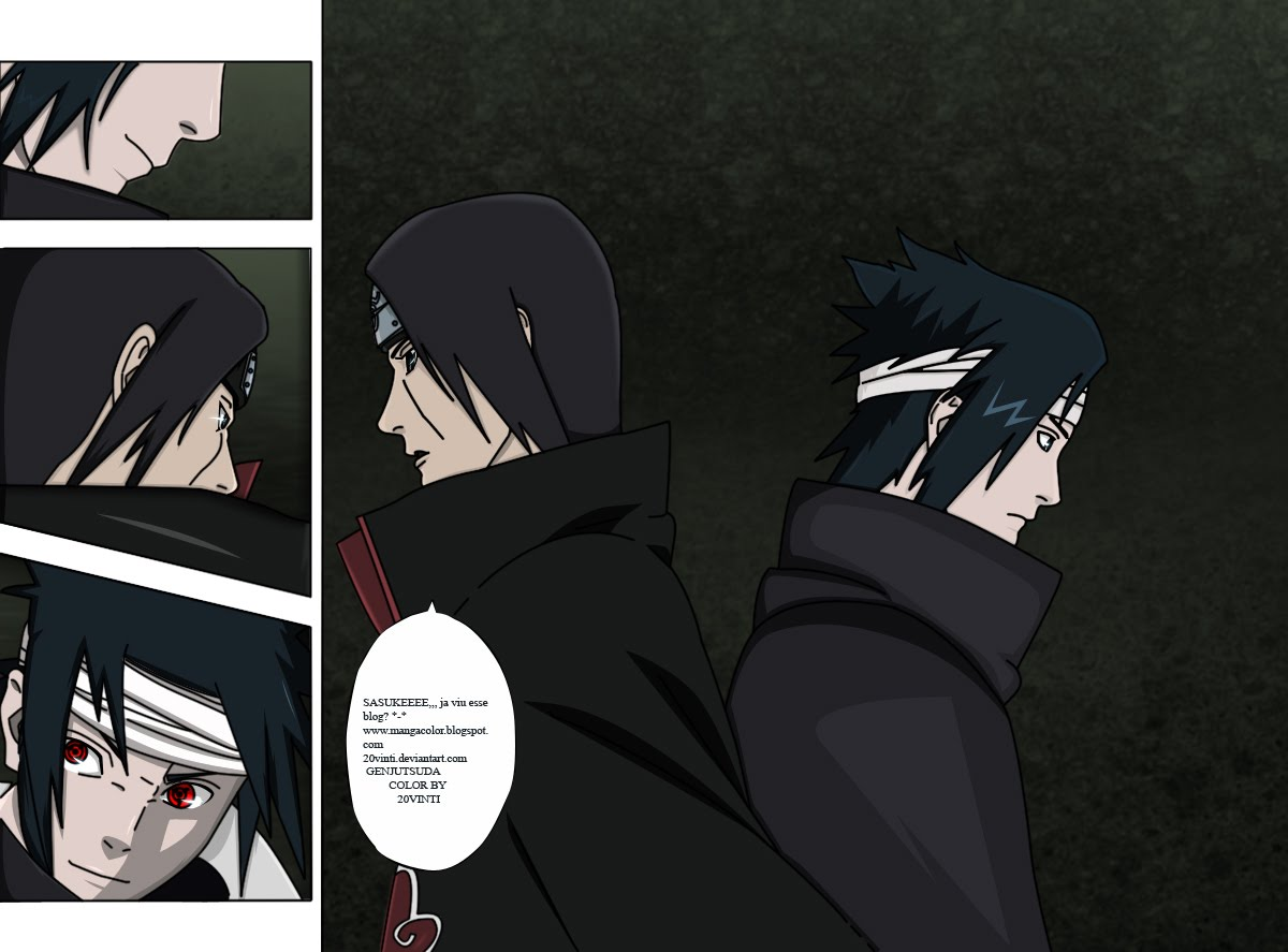 Mangá Color Br: Sasuke vs Itachi Mangá Color