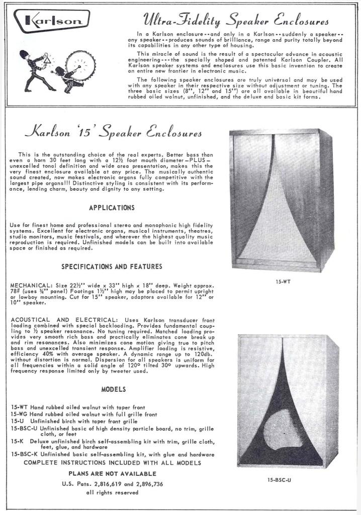 retro vintage modern hi-fi: Karson Speaker Enclosures