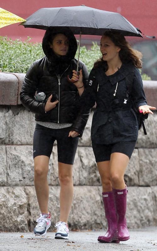 Emma Watson Spandex Shorts And Tights At Brown