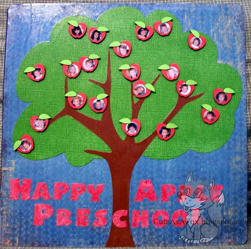 Teacher gift apple tree magnet board for Preschool family tree template