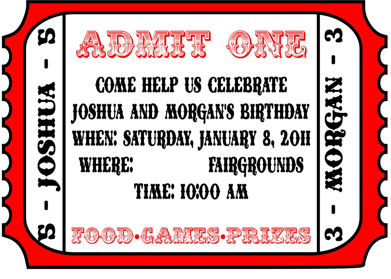 movie party invitations printable tickets and party invitation – Printable Ticket Invitations