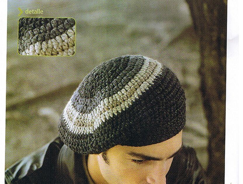 COMO HACER BOINA A CROCHET PARA HOMBRE | Patrones Crochet ...