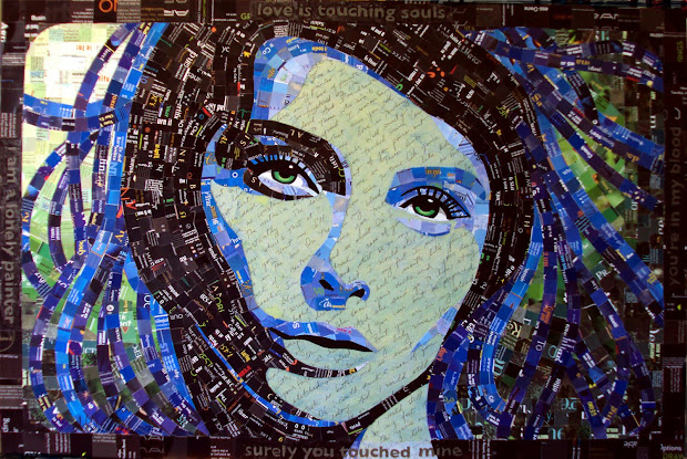 Collage Faces Of Sandhi Schimmel Face Art Portraits