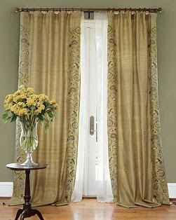 Embroidered Curtain Panels - Embroidered Window Curtains