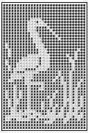 standing crane or heron filet crochet chart