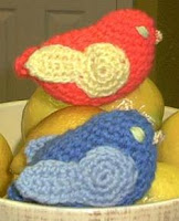 soft sculpture yarn crochet birds